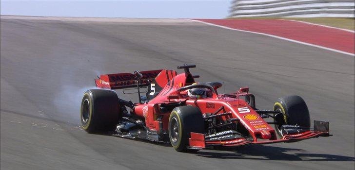 Abandono de Sebastian Vettel en Austin