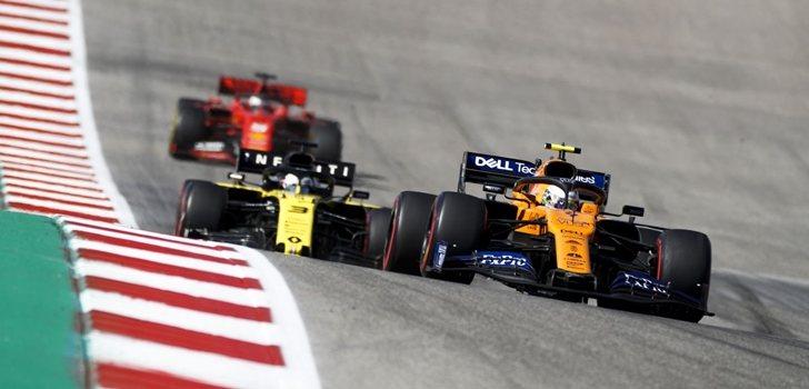 Norris, por delante de Ricciardo y Vettel