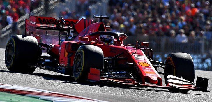 Sebastian Vettel en GP de Estados Unidos