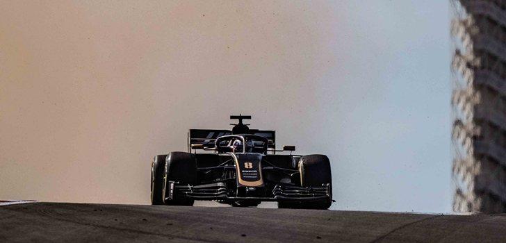 Grosjean, durante el GP de EE.UU 2019