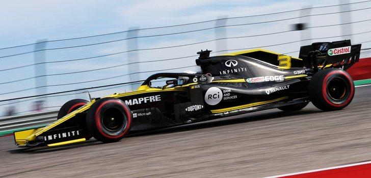 Daniel Ricciardo rueda en Austin