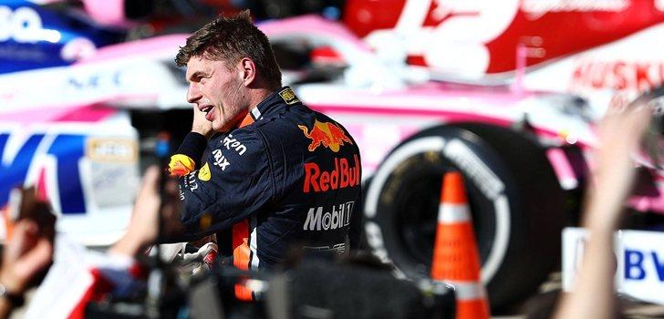 Max Verstappen se sube el podio en Austin