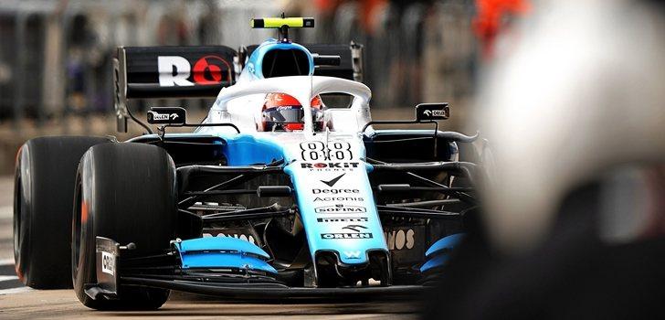 Kubica, en el pit lane de Austin