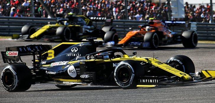 Ricciardo, durante el GP de Estados Unidos 2019