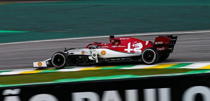 Räikkönen en el GP de Brasl)