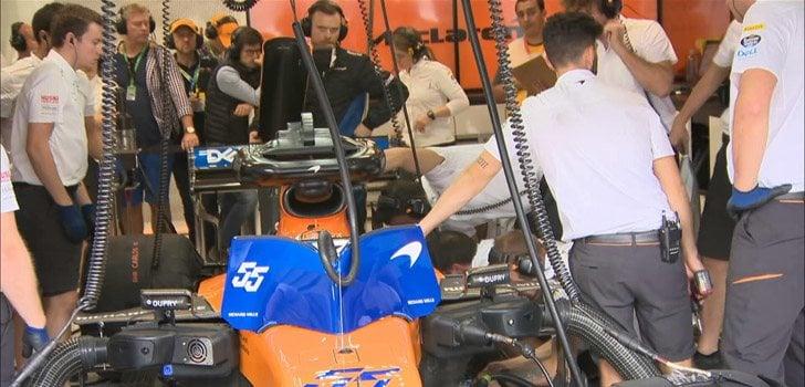 Carlos Sainz no ha podido competir en la sesión clasificatoria en Brasil