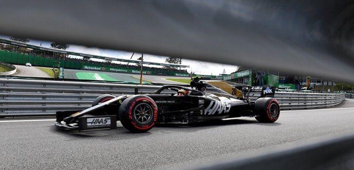 Kevin Magnussen en el GP de Brasil