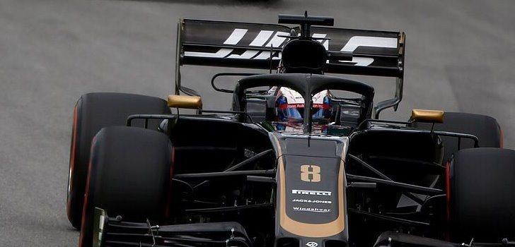 Romain Grosjean en el GP de Brasil