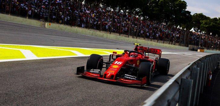 Charles Leclerc en el GP de Brasil