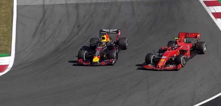 Verstappen y Leclerc se disputan la victoria en el GP de Austria