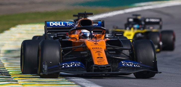 Sainz acaba tercero en el GP de Brasil 2019