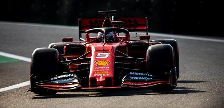 Vettel, durante el GP de Brasil 2019