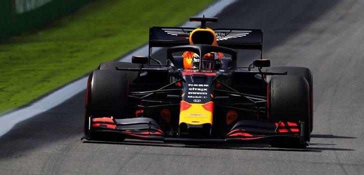 Verstappen, durante el GP de Brasil 2019