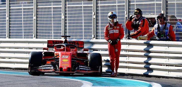Vettel abandona los Libres 1 de Abu Dabi