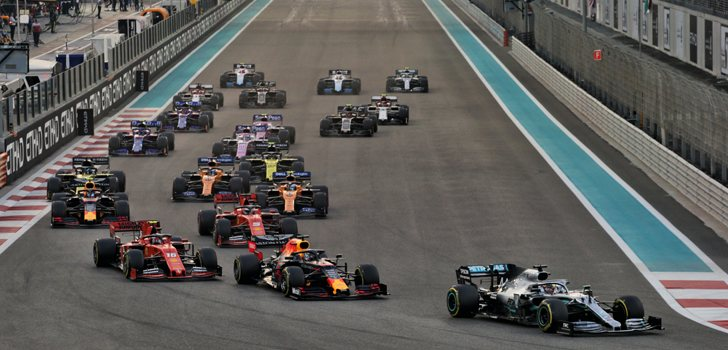 Salida del GP de Abu Dabi 2019