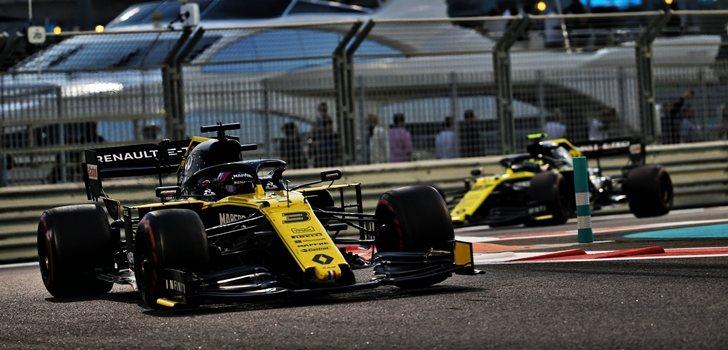 Ricciardo y Hülkenberg, en el GP de Abu Dabi 2019