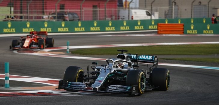 Hamilton, por delante de Leclerc en el GP de Abu Dabi 2019