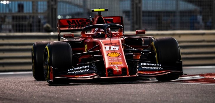 Leclerc acaba tercero en el GP de Abu Dabi 2019
