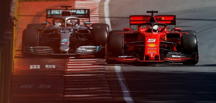Hamilton y Vettel luchan por la victoria en el GP de Canadá 2019