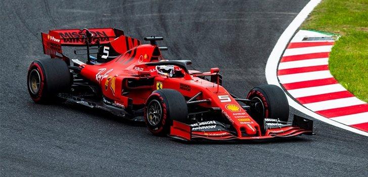 Vettel rueda en los test de Abu Dabi