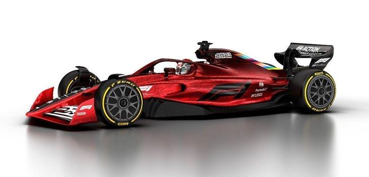 Prototipo del monoplaza 2021 de F1