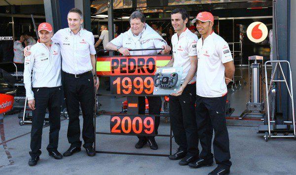 Pedro de la Rosa celebró en Australia su 10º aniversario en la F1