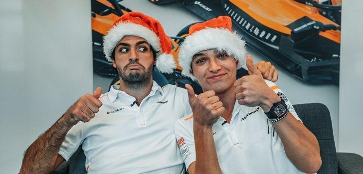 Sainz y Norris felicitan la navidad a sus seguidores