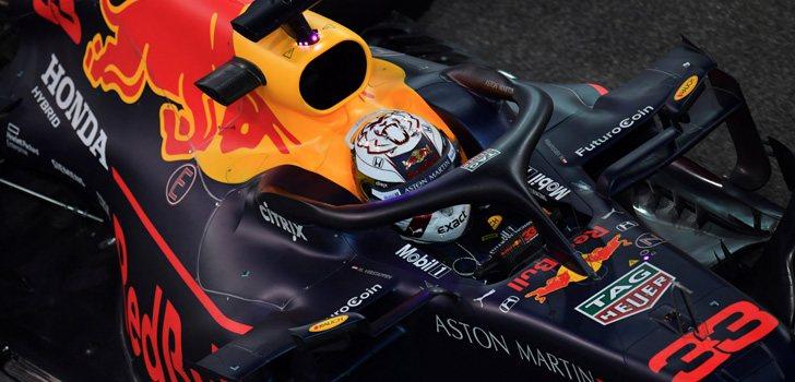 Max Verstappen, rodando con su Red Bull Honda