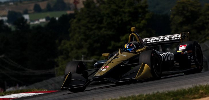 Marcus Ericsson, compitiendo en IndyCar