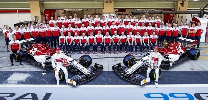 Kimi Raikkonen y Antonio Giovinazzi en Alfa Romeo
