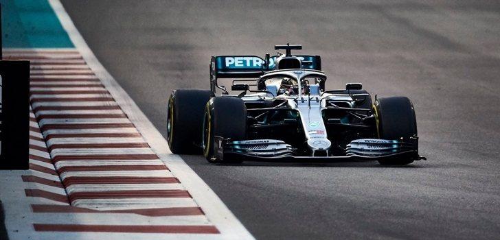 Hamilton, durante el GP de Abu Dabi 2019