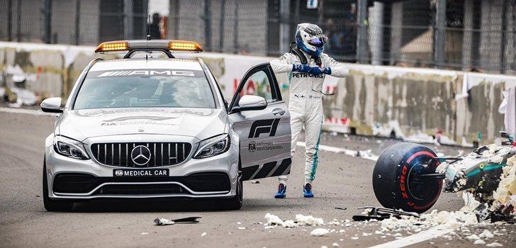 Bottas sufre un accidente en la qualy de México