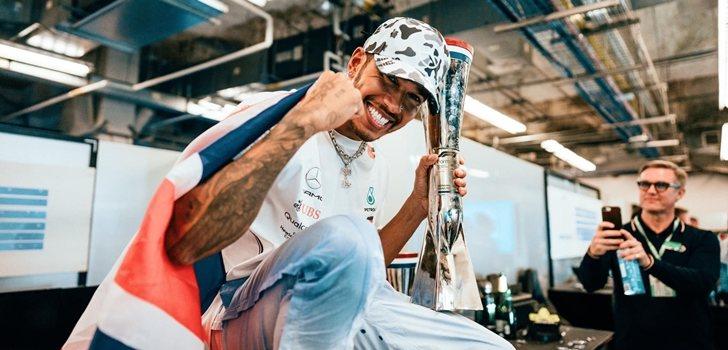 Hamilton celebra su sexta corona