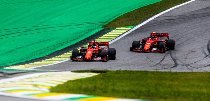Vettel y Leclerc ruedan en Interlagos