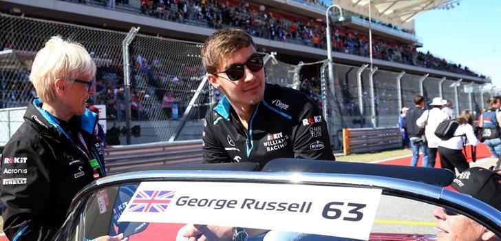 George Russell, en el Drivers Parade de Austin