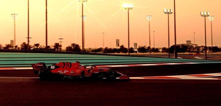 Charles Leclerc, en el GP de Abu Dabi 2019