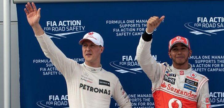 Schumacher y Hamilton, juntos en la Fórmula 1