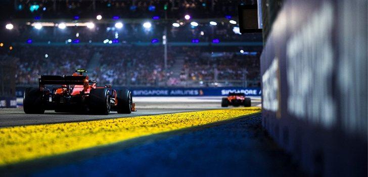 Vettel y Leclerc, en Singapur