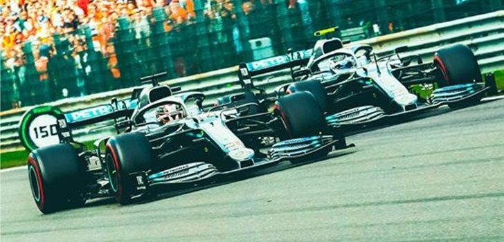Hamilton y Bottas, en el GP de Italia 2019