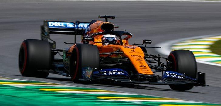 Carlos Sainz, en el GP de Brasil 2019