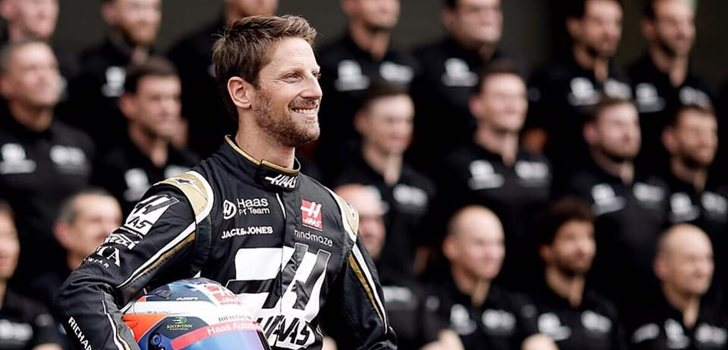 Grosjean, junto al equipo Haas