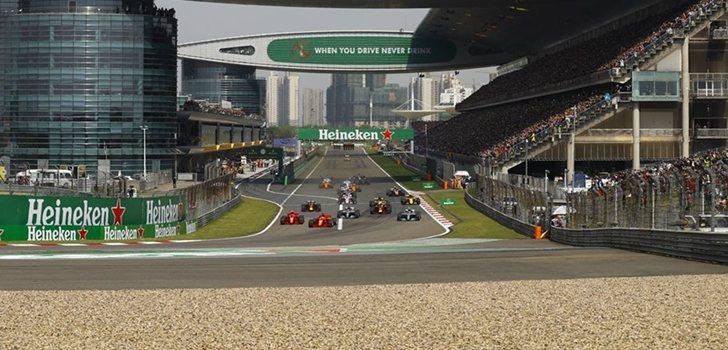 Los monoplazas de Fórmula 1 en el GP de China 2019