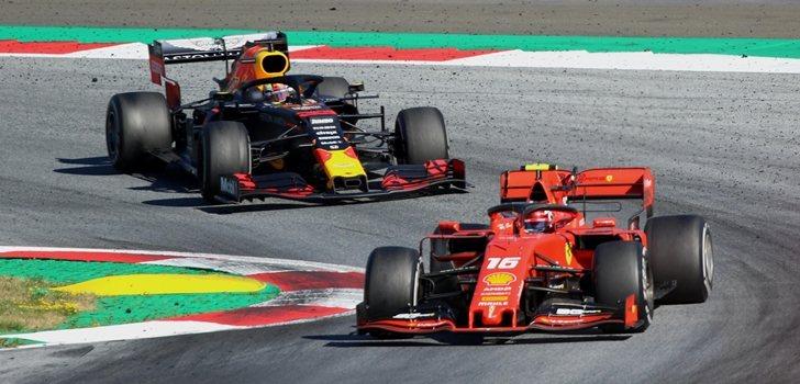 Leclerc y Verstappen en el GP de Austria 2019