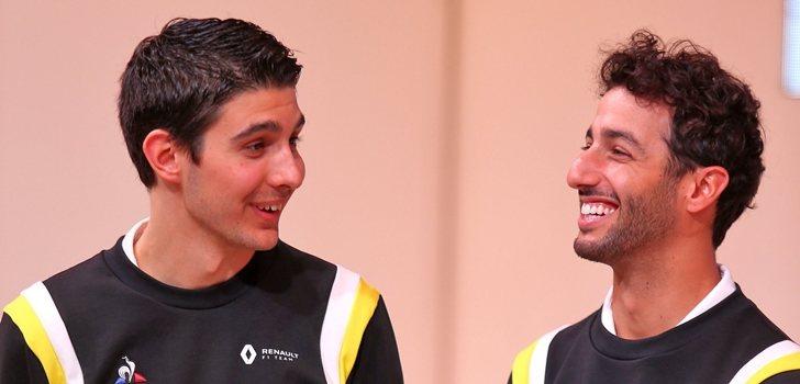 Ocon y Ricciardo, en la presentación del RS20