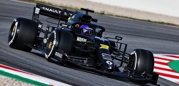 Ricciardo, en los test 2 de Barcelona