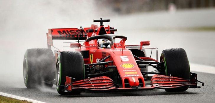 Vettel, en los test 5 de Barcelona