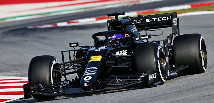 Ricciardo, en los test de Montmeló