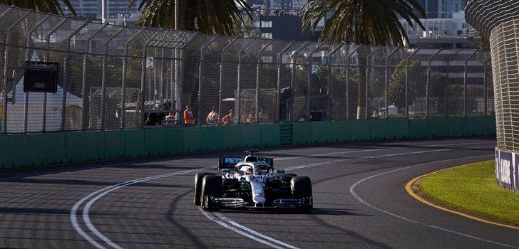 Hamilton, en el GP de Baréin 2019