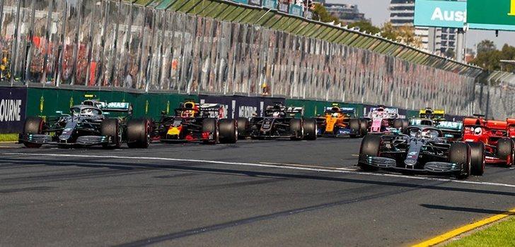 Los monoplazas de F1, en Melbourne 2019