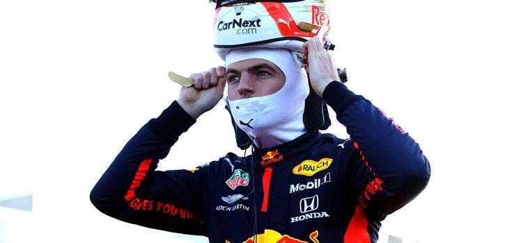 Max Verstappen, antes de subirse al monoplaza